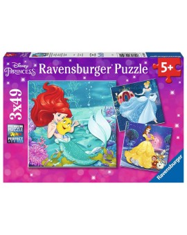 C.t 3x49 Pcs Princesses Disney