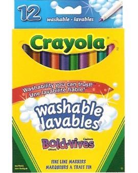 Crayola 12 Marqueurs lavables Couleurs vives