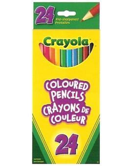 Crayola 24 Crayons à colorier en bois