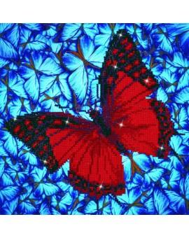 Diamond Dotz  Papillon Rouge  N19