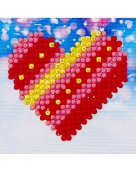 Diamond Dotz Ens.depart Coeur N19