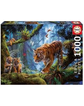 C.t. 1000 Tigres Sur L'arbre Educa  N21