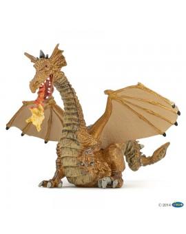 Papo Dragon Or avec flamme