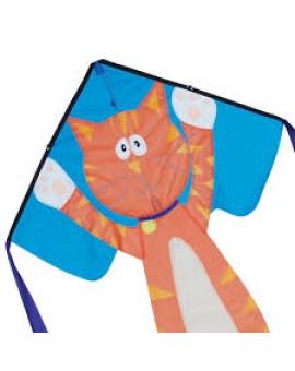 Cerf Volant Easy Flyer Chat Orange  5 ans +