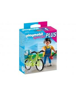 Playmobil 4791 Bricoleur avec matériel et vélo