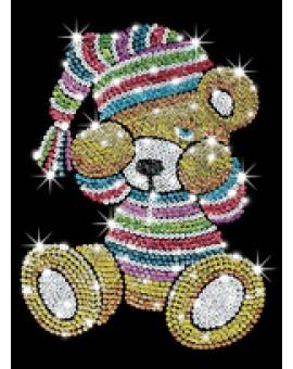 Sequin Art velours Teddy
