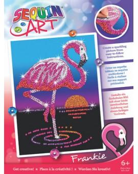 Sequin Art - Frankie le flamant rose