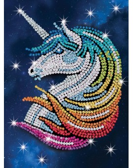 Sequin art : licorne
