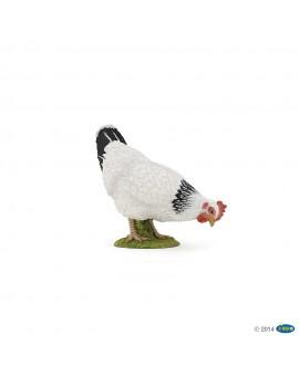Papo Figurine Poule blanche picorant