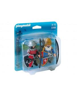 Playmobil 5166 Duo Chevalier du Lion avec Chevalier de l'Aigle