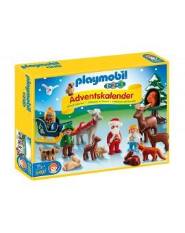 Calendrier de l'avent Playmobil 5497 1.2.3 Père Noël et les animaux de la forêt