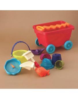 B. Brand Chariot rouge et jouets de sable