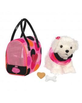 Bichon Frisé avec sac à pois Pucci Pup