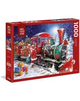 Trefl - le train du père Noël - 1000 mcx