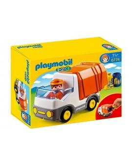 Playmobil 1-2-3 6774 Camion poubelle