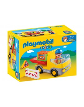 Playmobil 1-2-3 6960 Camion benne