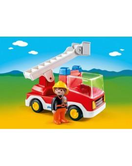 Playmobil 6967 1-2-3 Camion de pompier avec échelle pivotante