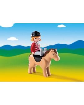 Playmobil 6973 1-2-3 Cavalière avec cheval