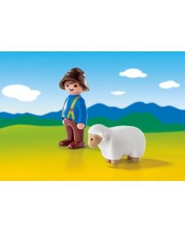 Playmobil 6974 1-2-3 Gardien avec mouton
