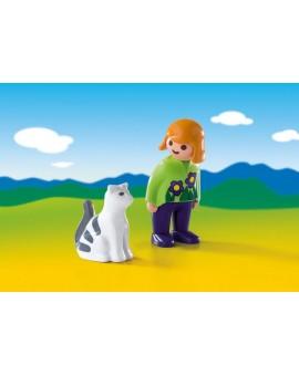 Playmobil 6975 1-2-3 Soigneur avec Chat