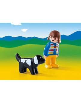 Playmobil 6977 1-2-3 Femme avec Chien