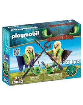 Playmobil 70042 Knanedur Et Kognedur En Combinaison N19