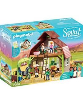 Playmobil 70118 Grange Avec Lucky, Apo Et Abigaelle
