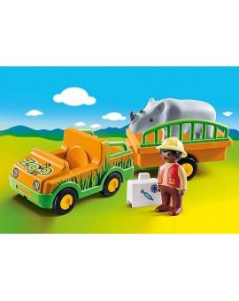 Pm 70182 Vétérinaire avec véhicule et rhino N20