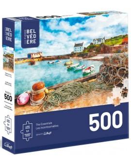 C.T 500 - Aquarelle Bateau et filet
