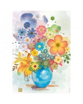 C.T. 500mcx Florals, Blue Vase. Crowther