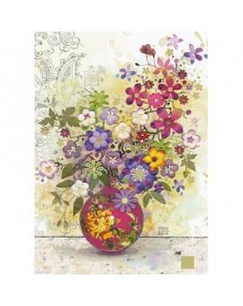 C.T. 1000mcx Florals, Pink Vase. Crowther