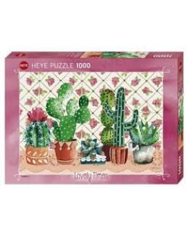 Casse-tête 1000 mcx Famille De Cactus