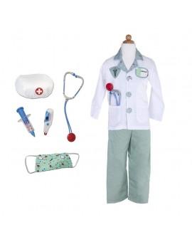 Costume de docteur + 8 accessoires (5-6 ans)
