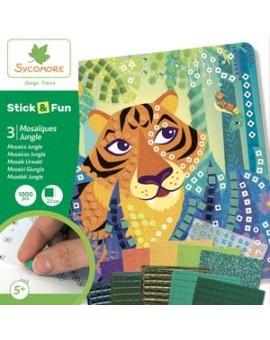 Stick'N Fun - Petit modèle 3 Mosaïques - Jungle