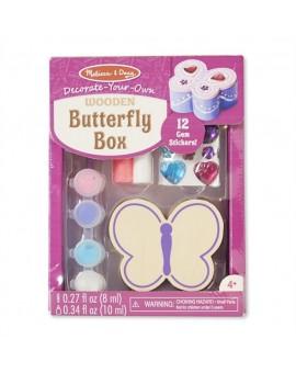 Boîte à décorer (papillon)