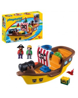 Playmobil 9118 1-2-3 Bateau De Pirates