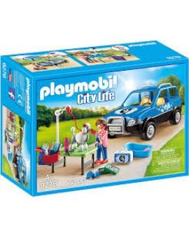 Playmobil 9278 Toiletteuse Avec Vehicule