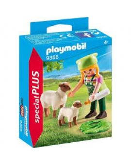 Playmobil 9356 Fermiere Avec Moutons
