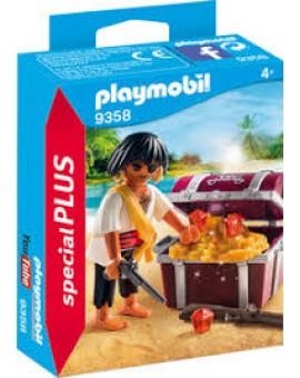 Playmobil 9358 Pirate Avec Coffre Au Tresor