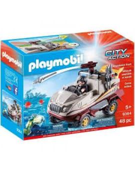Playmobil 9364 Vehicule Amphibien Et Bandit