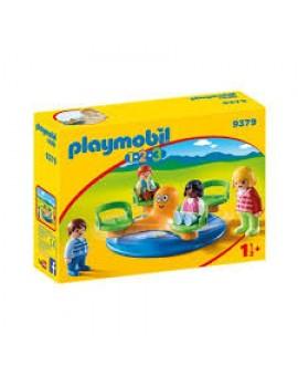 Playmobil 1 2 3 9379 Enfants Et Manege