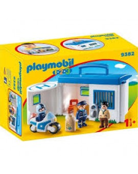 Playmobil 1 2 3 9382 Commissariat De Police Transportable