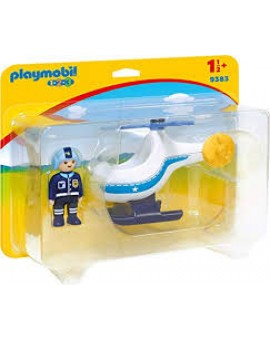 Playmobil 1 2 3 9383 Helicoptere De Police