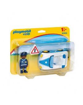 Playmobil 1 2 3 9384 Voiture De Police