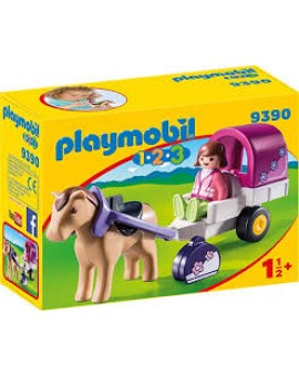 Playmobil 9390 Carriole Avec Cheval