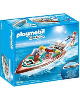 Playmobil 9428 Vacanciers Avec Vedette Et Moteur