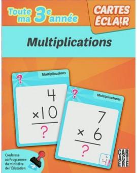 Cartes éclairs (Multiplications)