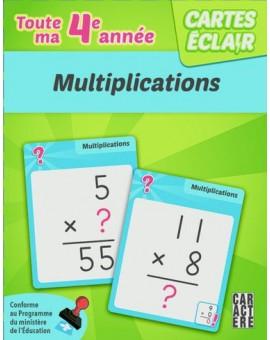 Cartes éclairs (Multiplications 4e année)