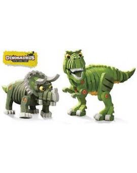 Bloco T-rex et tricératops  6-12 ans