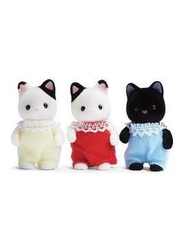 Calico Critters Triplets de chat Tuxedo
